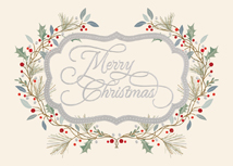Merry Christmas Floral Greeting Cards