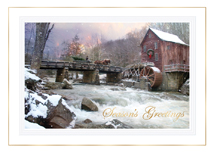 Snowfall River Holiday Cards